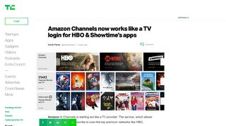 Amazon Channels now works like a TV login for HBO & Showtime's ...