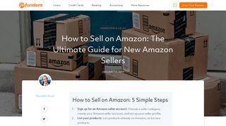Selling on Amazon: An Easy Guide for New Amazon Sellers - Fundera