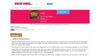 Amazon Slots | Up To 500 FREE SPINS on Starburst | Spin The Mega