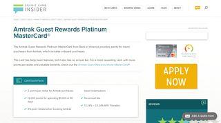 Amtrak Guest Rewards Platinum MasterCard® - Credit Card Insider