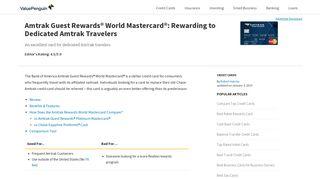 Amtrak Guest Rewards® World Mastercard®: Rewarding to Dedicated ...