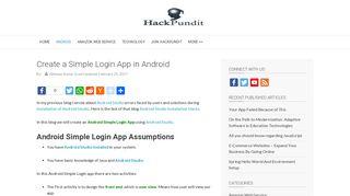 Android Simple Login App | HackPundit