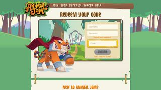 Animal Jam - Redeem Your Code
