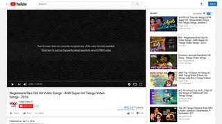 Nageswara Rao Old Hit Video Songs - ANR Super Hit Telugu Video ...