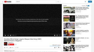 Devadasu Movie Songs   Jagame Maayaa Video Song   ANR - YouTube