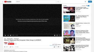 Akkineni Nageswara Rao Evergreen Video Songs    JUKEBOX ...