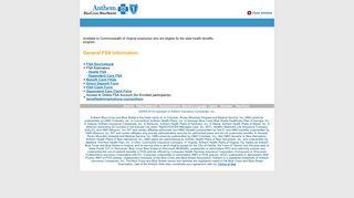 Flexible Reimbursement Accounts - Anthem Blue Cross