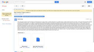 App Inventor 2 login screen - Google Groups