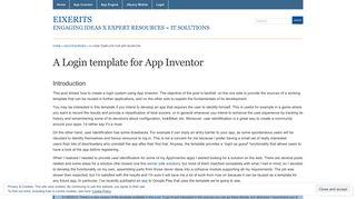A Login template for App Inventor « eiXerITS