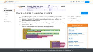 How to code a log-in page in App Inventor 2 - Stack Overflow
