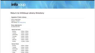 Appleton Public Library - OWLSweb