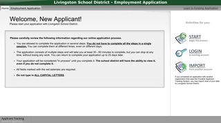 Livingston School District - Employment Application - applitrack.com