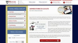 Military Loans for US Armed Forces