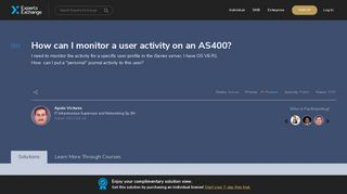 How can I monitor a user activity on an AS400? - Experts Exchange