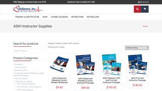 ASHI Instructor Supplies | LifeSavers, Inc.