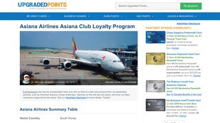 Asiana Airlines Asiana Club Loyalty Program Review [In-Depth]