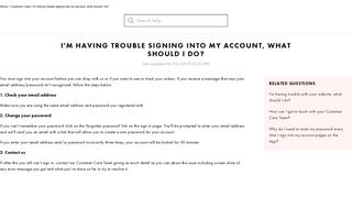 Trouble signing into my account - ASOS | Shop women's fashion ...