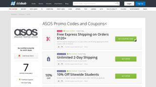 9 ASOS Coupons, Promo Codes, Deals & Sales ~ Feb 2019 - Slickdeals