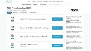 80% OFF | ASOS Promo Codes | February 2019