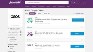 80% Off ASOS Promo Codes, Coupons 2019 - RetailMeNot