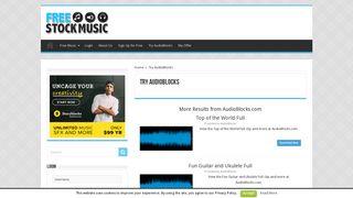 Try AudioBlocks - Free Stock Music