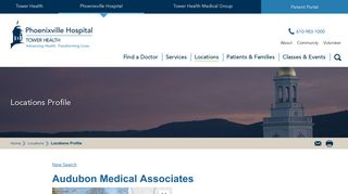 Audubon Medical Associates - Phoenixville Hospital - Tower Health