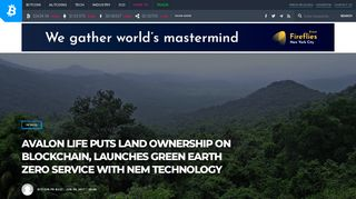 Avalon Life Puts Land Ownership on Blockchain, Launches GREEN ...