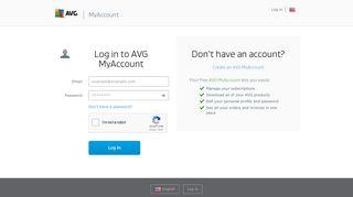 AVG | My Account Login