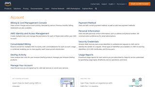 Account - AWS - Amazon.com