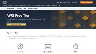 AWS Free Tier - AWS - Amazon.com