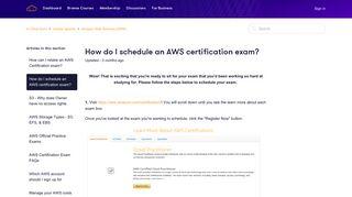 How do I schedule an AWS certification exam? – A Cloud Guru