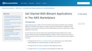 Get Started with Bitnami Applications in the AWS Marketplace