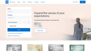 American Express IN | Log in | Credit Cards, Rewards, Offers