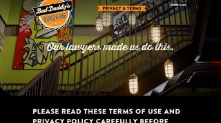 Privacy & Terms - Bad Daddy's Burger Bar