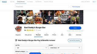 Working at Bad Daddy's Burger Bar: Employee Reviews about Pay ...