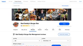 Working at Bad Daddy's Burger Bar: 52 Reviews about Management ...