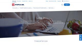 Online Services - Banco Popular