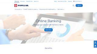 Online Banking - Mi Banco Online - Popular