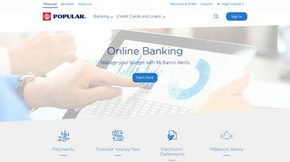 Online Banking - Mi Banco Online - Banco Popular Virgin Islands