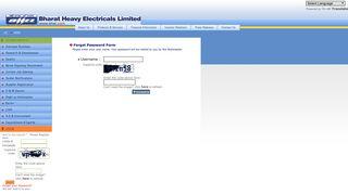 Forgot your Password? - Bharat Heavy Electricals Ltd.