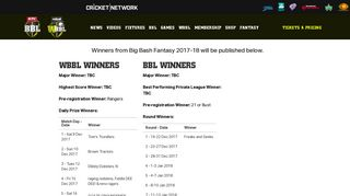 Big Bash Fantasy Winners | Big Bash League BBL