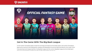Big Bash League - Play Fantasy Cricket Online in India | DREAM11