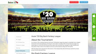 Big Bash Fantasy League - Golden Jeeto