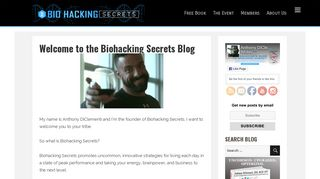 Welcome to the Biohacking Secrets Blog
