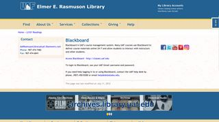 Blackboard | Elmer E. Rasmuson Library