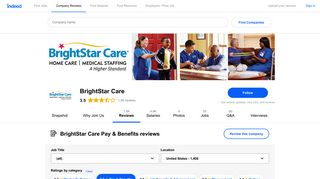 Working at BrightStar Care: 428 Reviews about Pay & Benefits ...