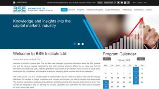 Welcome to BSE institute Ltd.   BSE Institute