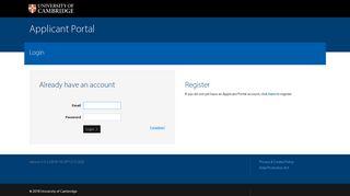 University of Cambridge: Applicant Portal