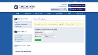 Login - Capital Loan And Investment Society