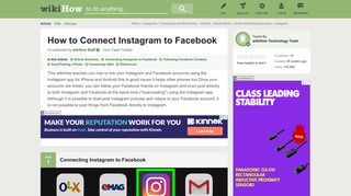 How to Connect Instagram to Facebook (with Pictures) - wikiHow